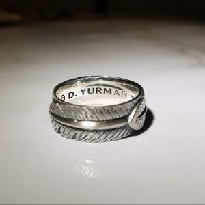 David Yurman Men's Southwest Feather Ring Size 10